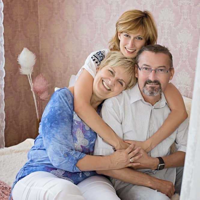 Anna családjával
